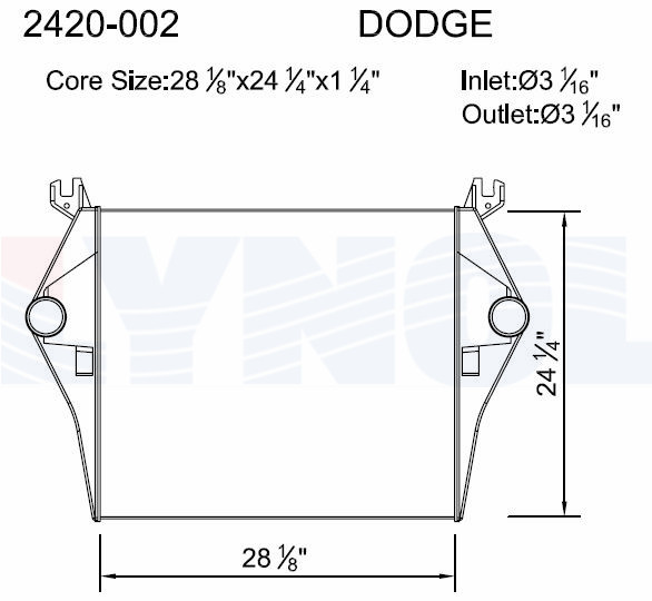 2420-002 - Dodge Charge Air Cooler